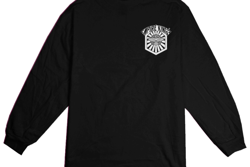 ek hexagon longsleeve tee front black